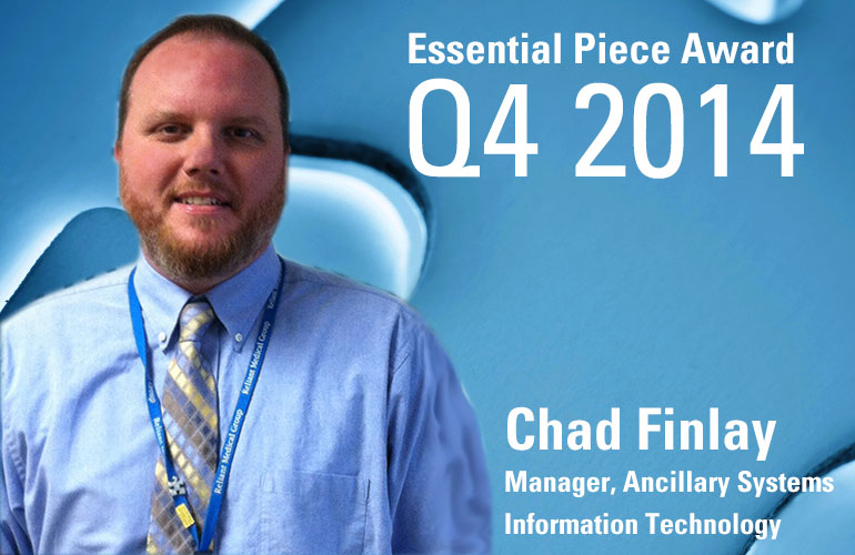 Chad Finlay is this Quarter's Essential Piece!