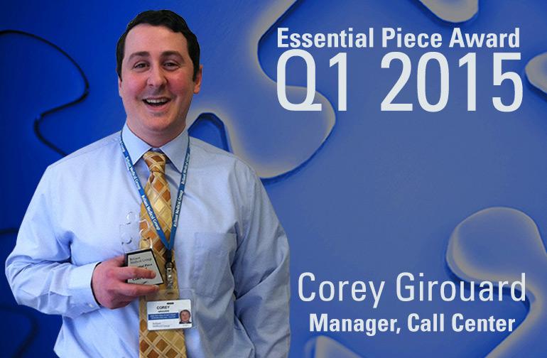 Corey Girouard is this Quarter's Essential Piece!