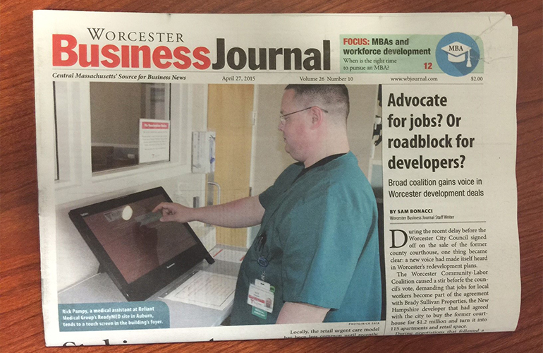 Reliant's ReadyMED Featured in Worcester Business Journal