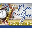 New Year Holiday Notice 2019