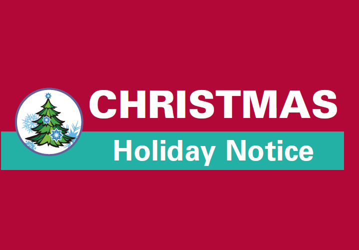 Christmas Holiday Notice