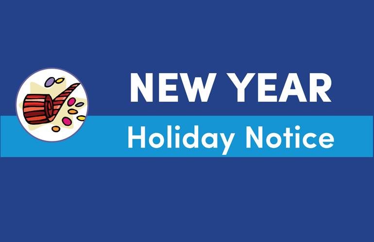 New Year Holiday Notice 2016
