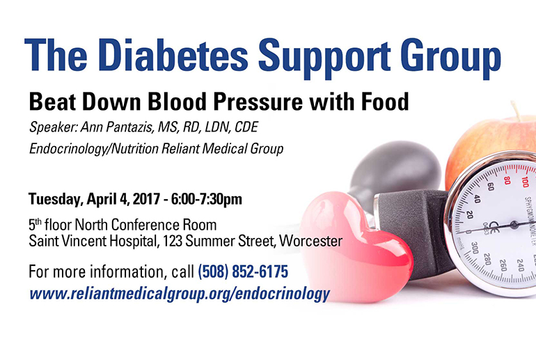 The Diabetes Support Group – April 2017