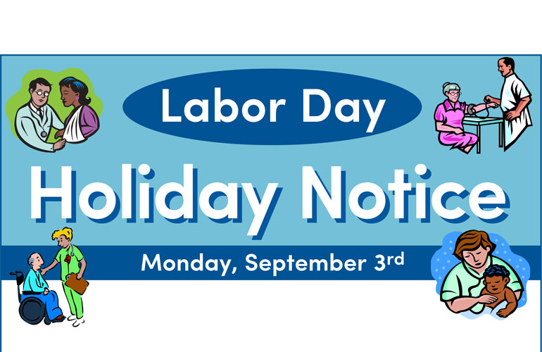 Labor Day Holiday Notice 2018