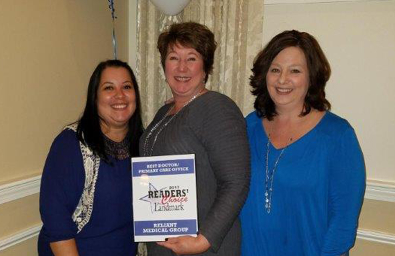 Reliant Holden Named Best Primary Care Office in Landmark's Readers' Choice Awards