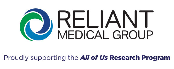"""Reliant Medical Group """"proudly supporting the All of Us Research Program"""""""