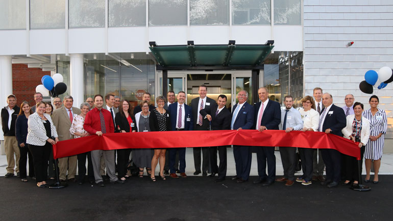 Ribbon Cutting at the Neponset Street Open House