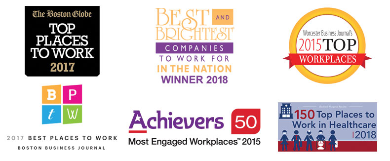 Awards Earned by Reliant - The Boston Globe's Top Places to Work 2017, Boston's Best and Brightest Companies to Work For, Worcester Business Journals 2015 Top Workplaces, 2017 Best places to work from the Boston Business Journal, Achiever's 50 Most Engaged Workplaces 2015, 150 top places to work in healthcare in 2018