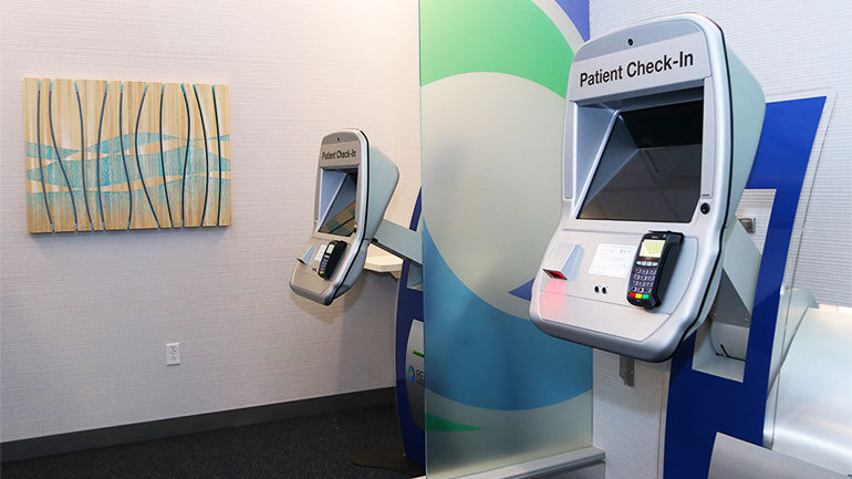 Patient check in kiosks