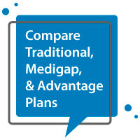 Compare traditional, medigap, and advantage plans
