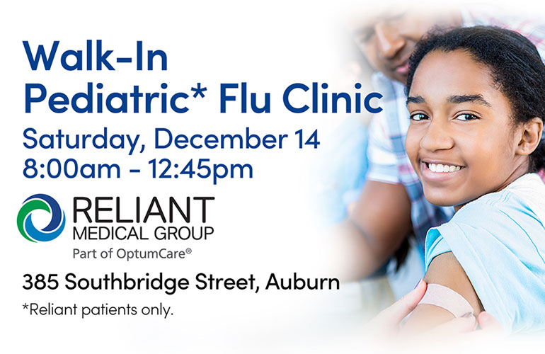 Walk-In Pediatric Flu Clinic in Auburn