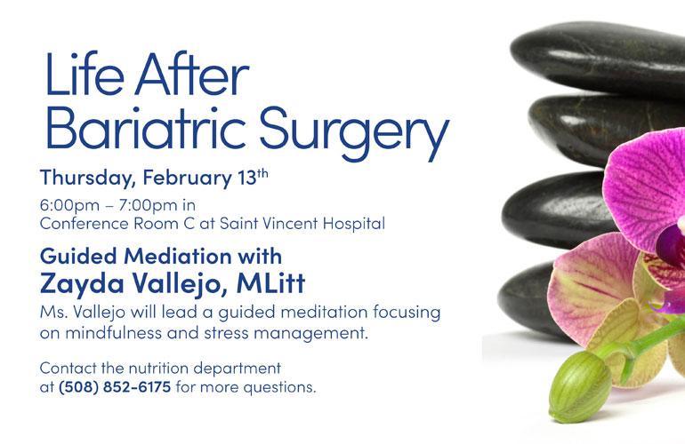 Life After Bariatric Surgery Group – Feburary 2020