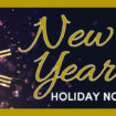 New Year Holiday Notice 2020