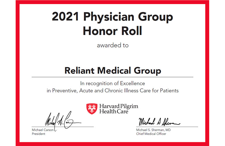 Reliant Medical Group Made the Honor Roll!
